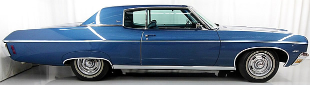 side view of a 70 Chevy Caprice