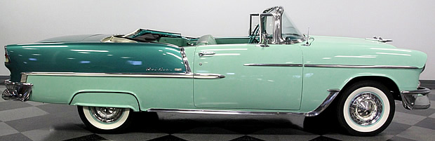 side view of a 55 Bel Air convertible