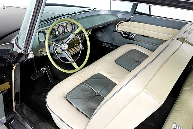 interior shot of a 56 Continental Mark II
