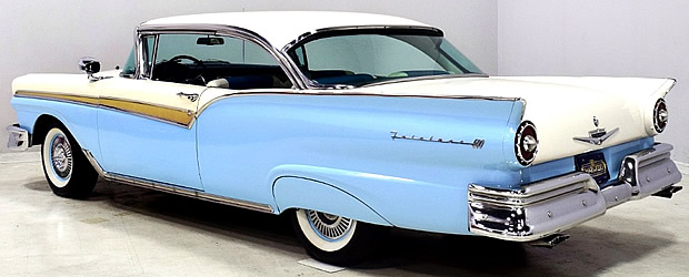 rear view of a 57 Ford Fairlane 500