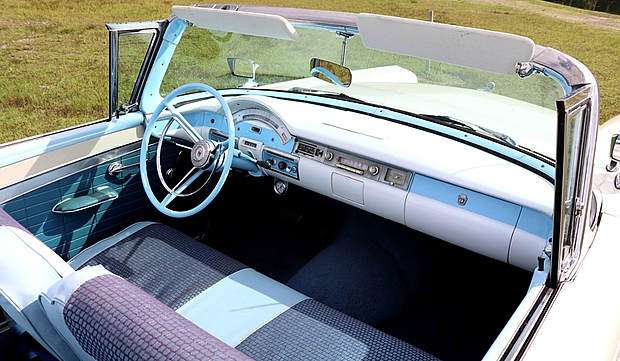 Interior of a 57 Ford Retractable