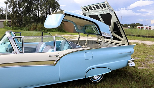 57 Ford Skyliner top operation