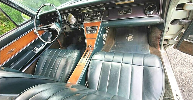 interior shot of a 65 Buick Riviera