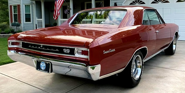Rear view of the '66 Chevelle SS 396