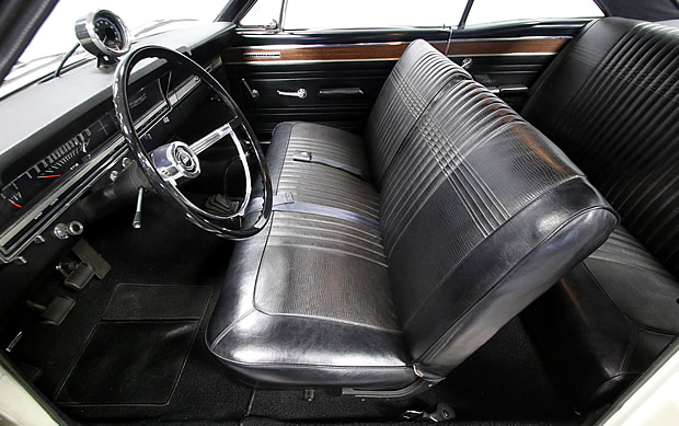 interior shot of a 66 Ford Fairlane R-code
