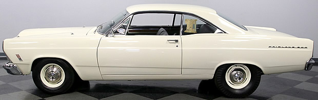 side view of a rare R-Code 427 Fairlane 500 from 1966