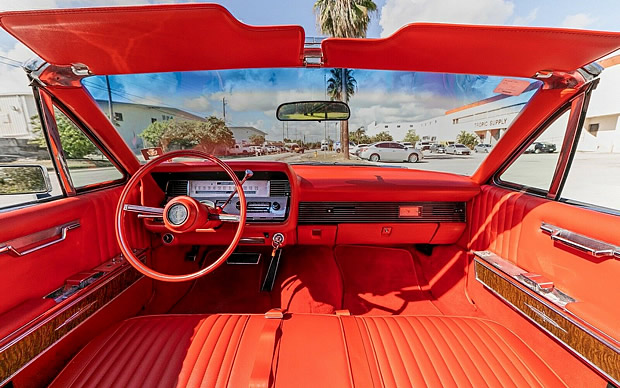 view of the dash / instrument panel of a 67 Linconln Continental