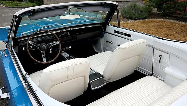 Interior of a 68 Dodge Coronet R/T Convertible