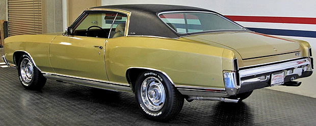 Rear view of a 1970 Chevy Monte Carlo SS
