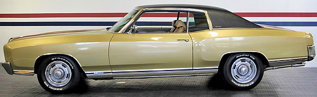 Side view - SS 454 SS Monte Carlo from 1970.