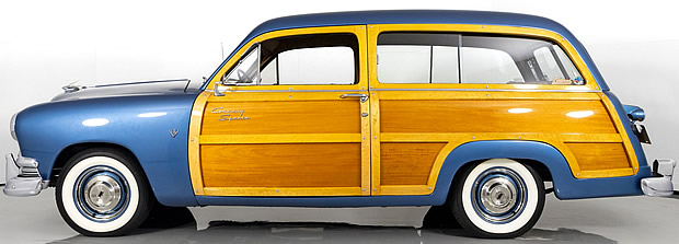 Side view of a 1951 Ford Woody