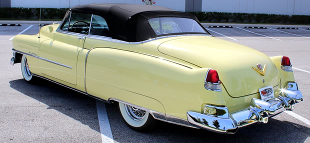 Rear view of a 53 Cadillac Series 62 Convertible