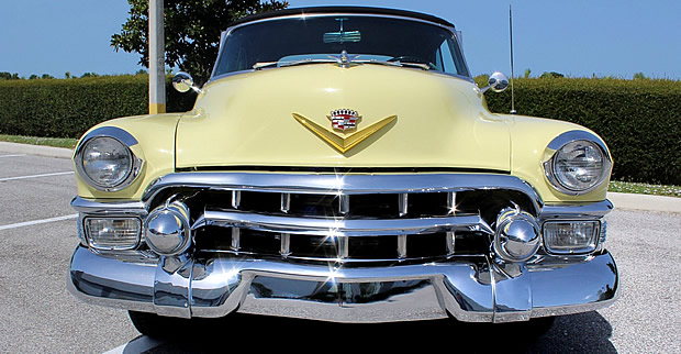 Front view of a 1953 Cadillac