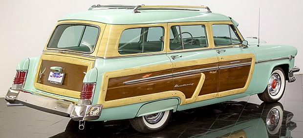 rear view of a 54 Mercury wagon