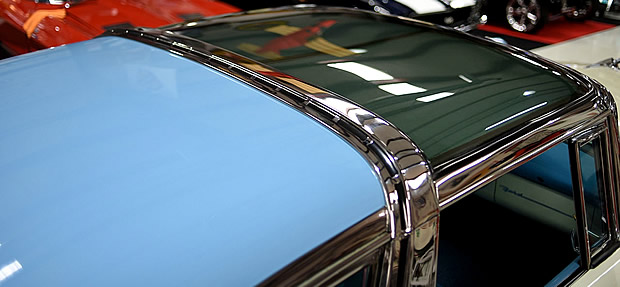 Plexiglass roof of a 55 Ford Skyliner