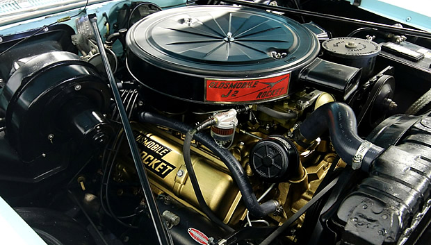 1957 Oldsmobile J-2 Rocket V8 engine