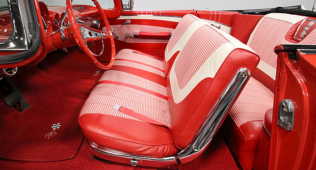 Interior shot of the 1960 Chevy Impala convertible