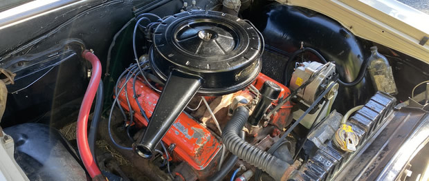 Original low-mileage 283 cubic inch v8 fitted to a 64 Chevelle Malibu station wagon.