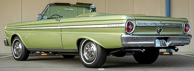 rear view of a 65 Ford Falcon Convertible