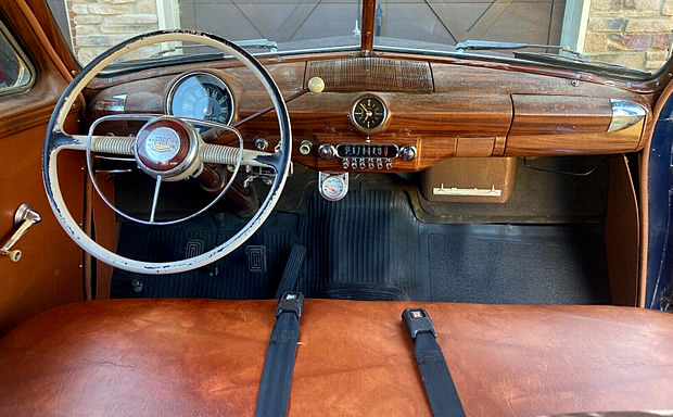 1950 Ford Country Squire interior