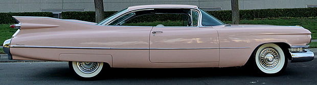 Side view of a 59 Cadillac Coupe de Ville