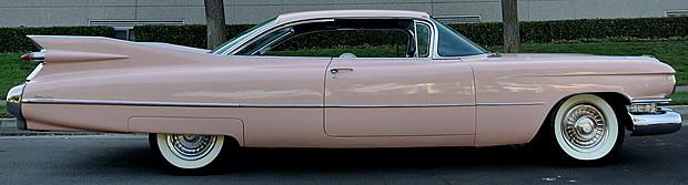 Side view of a 59 Cadillac Coupe de Ville