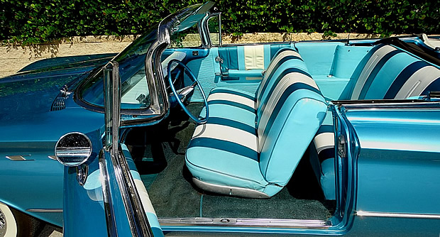Tri-color interior of a 1960 LeSabre convertible