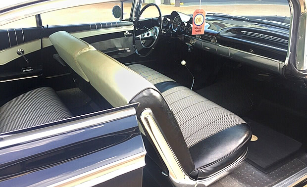 Two-tone interior inside a 1960 Chevrolet Impala