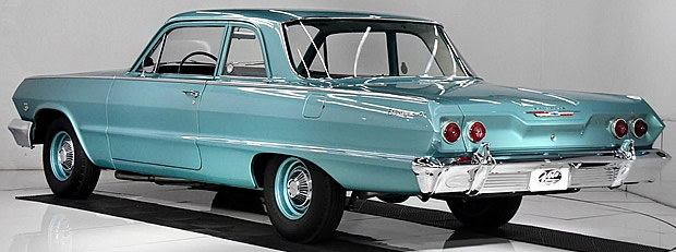 Rear view of a 1963 Chevy Biscayne
