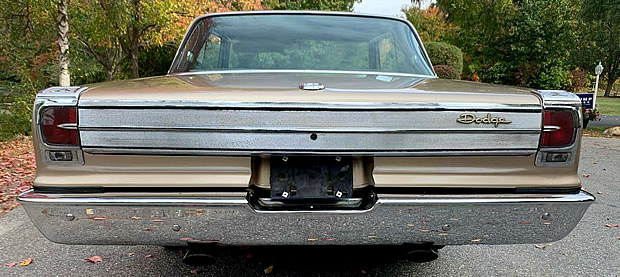 rear view of a Dodge Coronet 500 from 1965