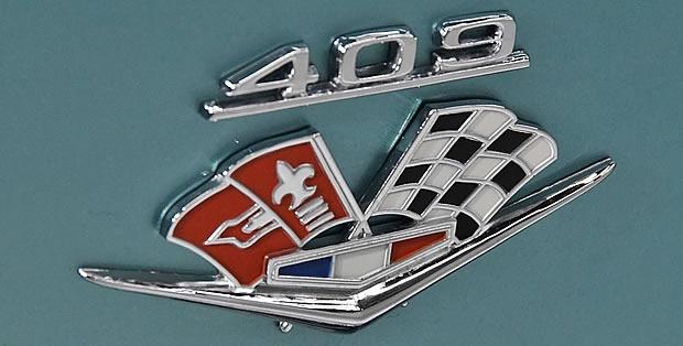 409 fender badge on a 63 Biscayne