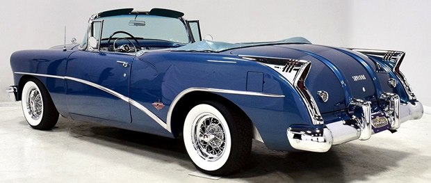 Rear view of the 1954 Skylark by Buick