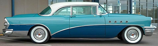 Side view of a 1955 Buick Roadmaster