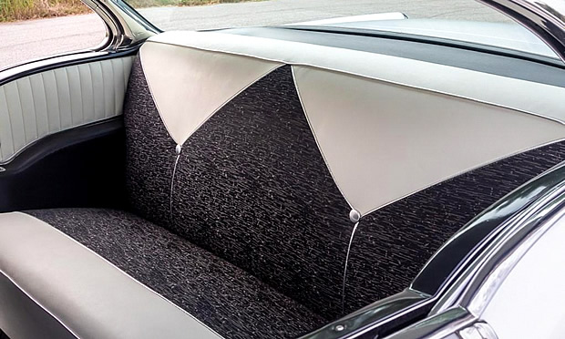 Rear seat of a 1956 Chevy Bel Air Sport Coupe