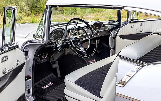 1956 Chevy Bel Air interior and dash