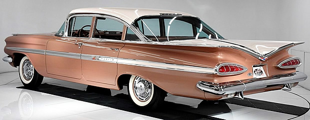 Rear view of a 1959 Chevy Impala