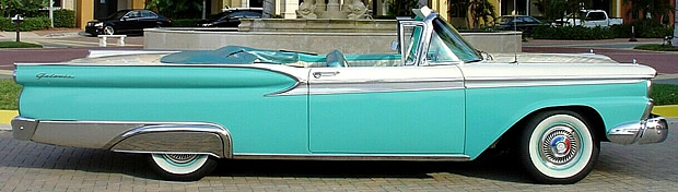 Side view of the 1959 Ford Sunliner
