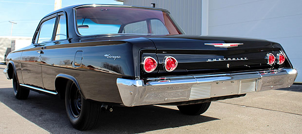 rear view of a Chevy Biscayne from 1962