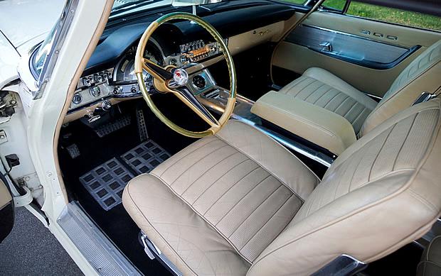 Stunning interior of a 1960 Chrysler 300F