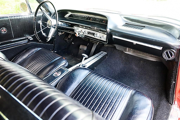 interior view of a 1954 Impala SS