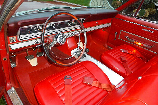 interior shot of a 66 Fairlane 500XL convertible