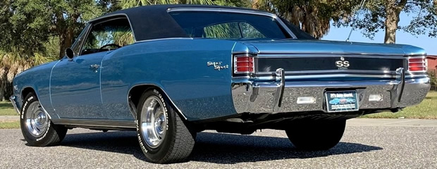 rear view of the 67 Chevelle SS396 by Chevy