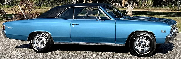Side view of a 67 Chevrolet Chevelle